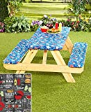 #9: 3 Piece Picnic Table Covers - Grill King