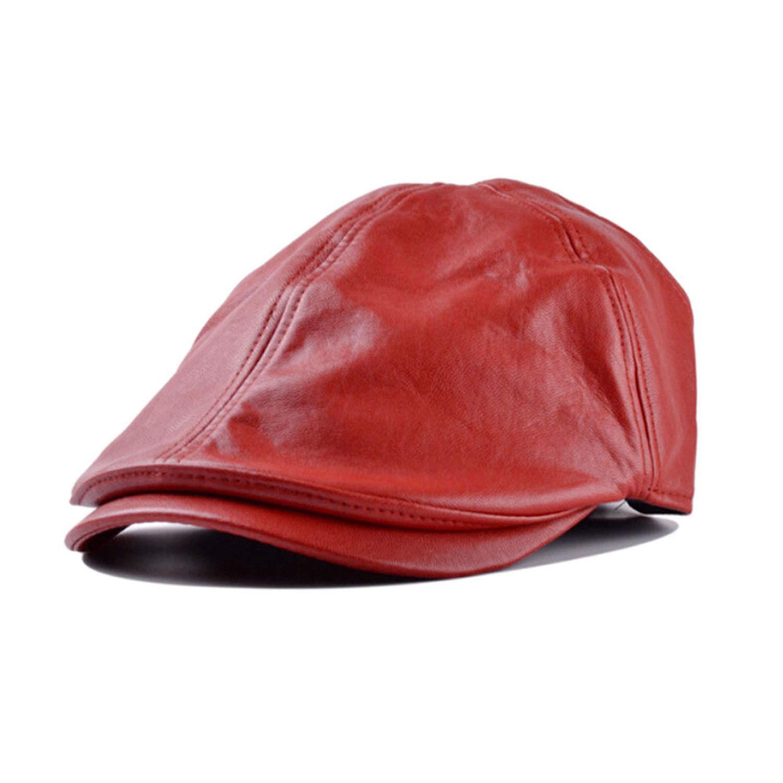 New Summer Men Women Vintage Beret Newsboy Flat Cabbie Causal Driving Hats Artificial Leather Cap