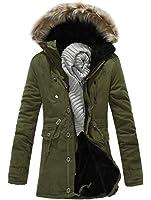LKOMARKET-メンズ コート ダウンジャケット 防寒服 裏ボア フード付き きれいめ カジュアル ホスト バーテンダー クラブ 水商売 アウター スリム 着まわし 通勤 デート 4色