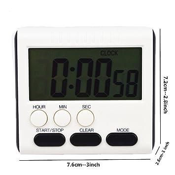 Compra Reloj Despertador Digital Mini Temporizador de Cocina para Cocina electrodoméstico 24 Horas Reloj Cuenta Abajo Temporizador para cocinar Estudio, ...