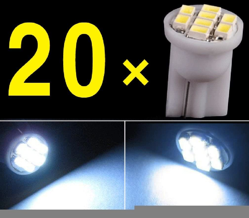 20 x White 6 LED 12V Replacement T10 Wedge Light Bulbs 194 2450 2652 2921 2825
