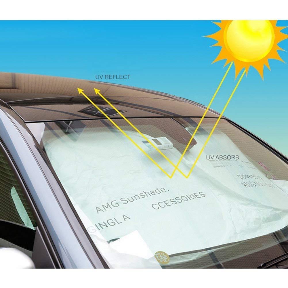 YIKA NEW Car Windshield Sun Shade For AMG GLK300 GLA C200L GLC CLA Blocks UV Rays Sun Visor Protector