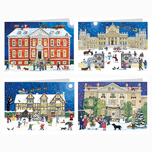 Alison Gardiner Famous Illustrator Unique Advent Christmas Calendar Cards - Beautiful Fold Out - Designed in England - British Houses