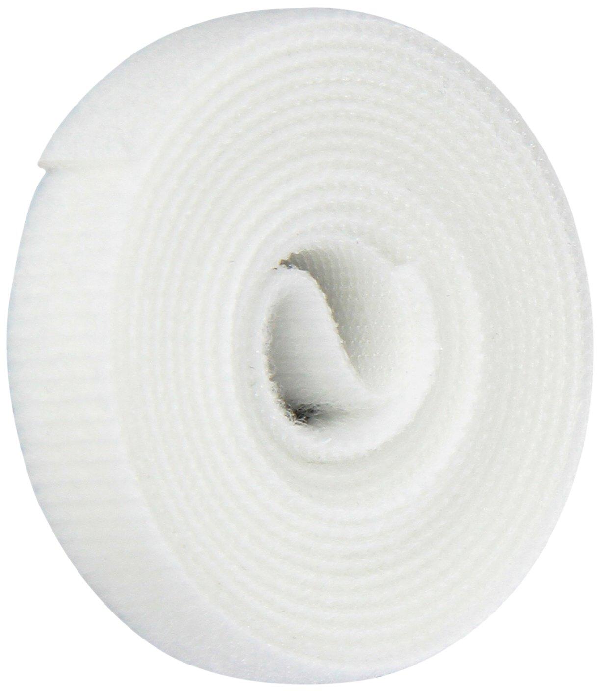 Hook and Loop VELCRO 1811-OW-PB//B White Nylon Velcro Onewrap Strap 5 Length 1//2 Wide