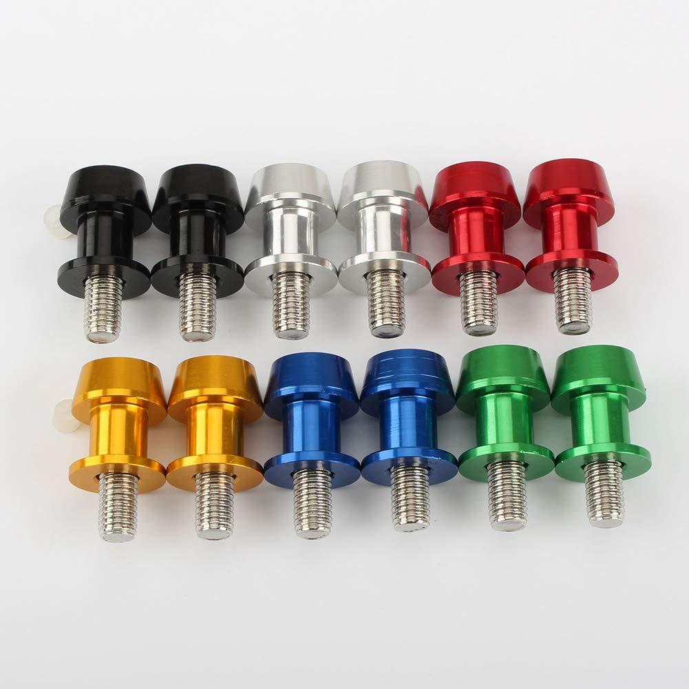 omufipw Moto CNC alluminio forcellone cursori rocchetti viti di supporto per Yamaha 6//8//10 mm viti a braccio oscillante