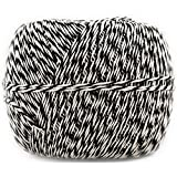 JAM Paper Twine - Black & White Baker's Twine - 500 Yards - Sold Individually