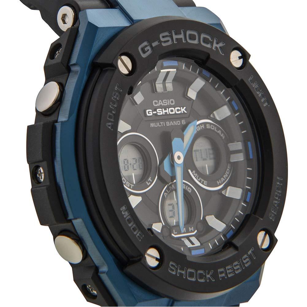 CASIO Herren Digital Uhr mit Harz Armband GST W300G 1A2ER G