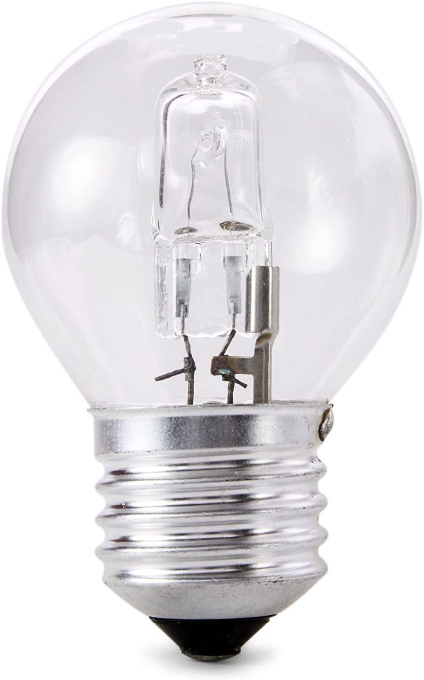 10 x Pack 42w = 60w 240v ES E27 Screw Cap Low Energy Quality Eco Clear Halogen Golfball Light Bulbs