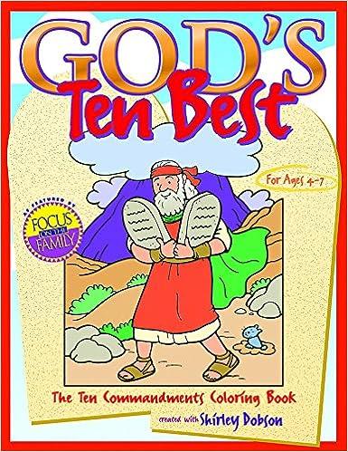 Gods Ten Best The Commandments Coloring Book Books David C Cook 9780830730612 Amazon