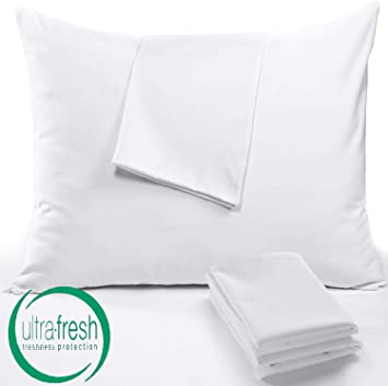 2 KING ZIPPERED PILLOW PROTECTORS PILLOW COVERS 20x36/'/' T-180 ZIPPERED BED BUG