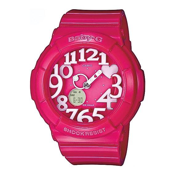 140d718db127 Casio Baby-G - Reloj analógico - digital de mujer de cuarzo con correa de  resina rosa (alarma