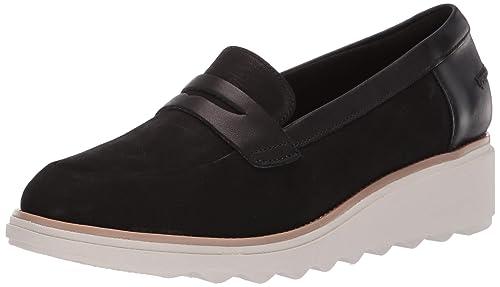 f1bff7e168f79 Clarks Women's Sharon Ranch Shoe, Black Nubuck/Leather Combi, ...