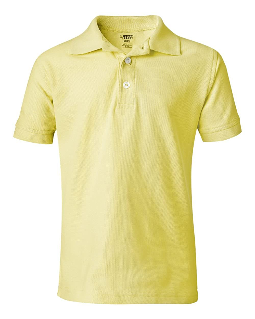 French Toast School Uniform Boys Short Sleeve Pique Polo Shirt, Yellow, X-Large (14/16) A9084