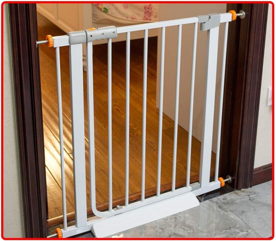 QIANDA Barrera Seguridad Niños Protector Escaleras Bebe Se Adapta A Puertas/Pasillos/Escalera Sin Taladrar Abrir como Una Puerta - Blanco (Ancho 61-215cm) (Size : 194-201cm): Amazon.es: Hogar