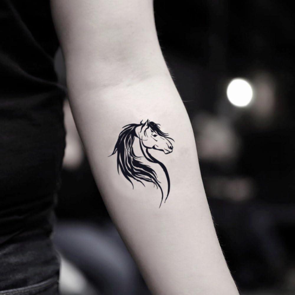 Tatuaje Temporal de Cabeza de caballo (2 Piezas) - www.ohmytat.com ...