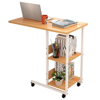 HAIPENG Mesa Auxiliar Pequeña Café Ordenador Portátil Escritorio Sencillo Móvil Mesas De Noche Estudiante Dormitorio (
