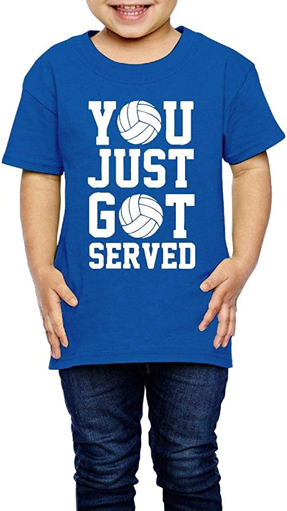 XYMYFC-E You Just Got Served Volleyball 2-6 Years Old Boys /& Girls Short-Sleeved T-Shirt