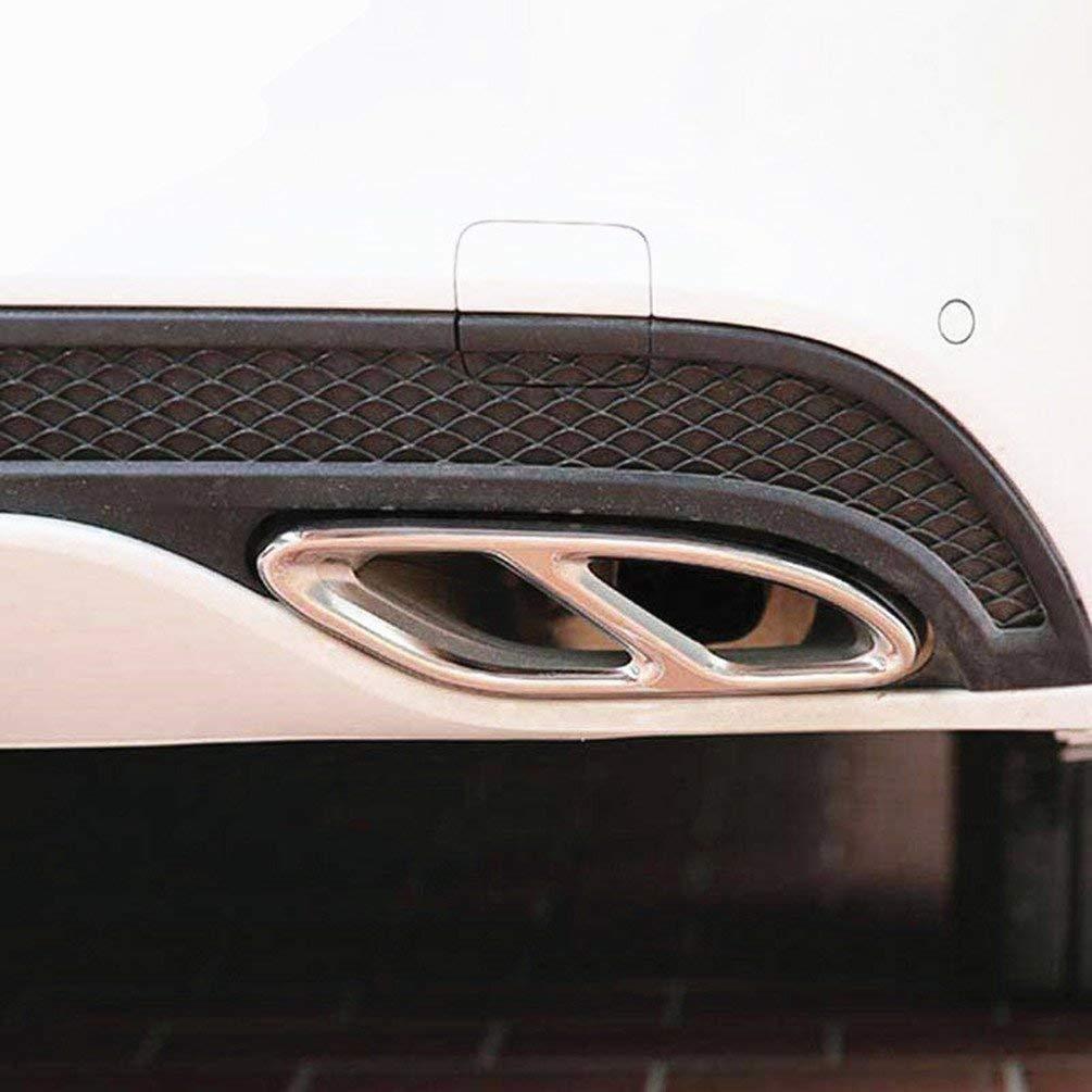 Topauto Auto Zubeh/ör AMG Edelstahl Auspuff Verkleidung f/ür Mercedes Benz GLC A B C E Klasse W205/Coupe-W176/W246/2016?2017/Auto Styling Teile schwarz