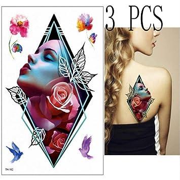 tzxdbh 3 Piezas Tatuaje Lotus Tatuaje Chica Pegatina Cuerpo ...
