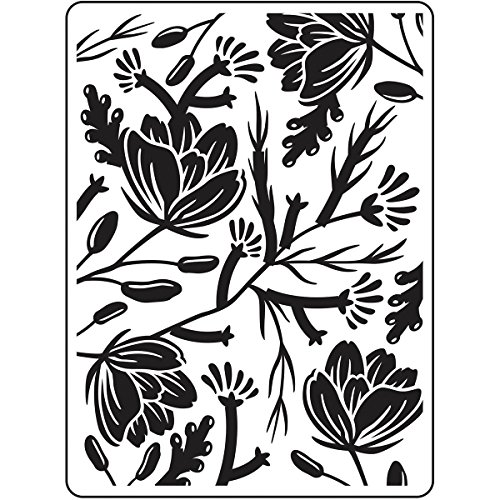 DARICE 30023113 Embossing Folders: Flower Pod Background, 4.25