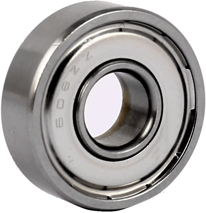 Amazon Com Uxcell Zz608 22mm Od 8mm Bore Diameter Shielded Deep Groove Flange Ball Bearing Home Improvement