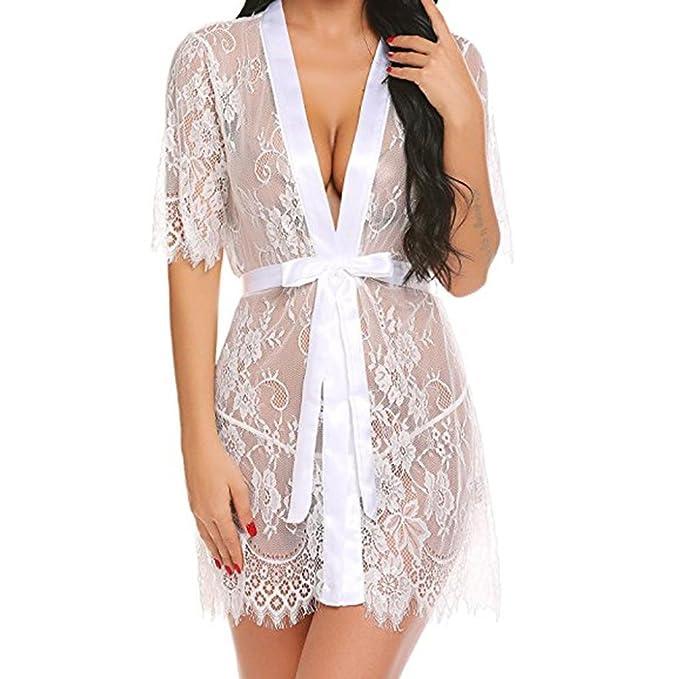 Yesmile Ropa de Interior Pijama Barata Mujer Babydoll Lencería para Mujer Erótica Kimono Transparente Ropa de