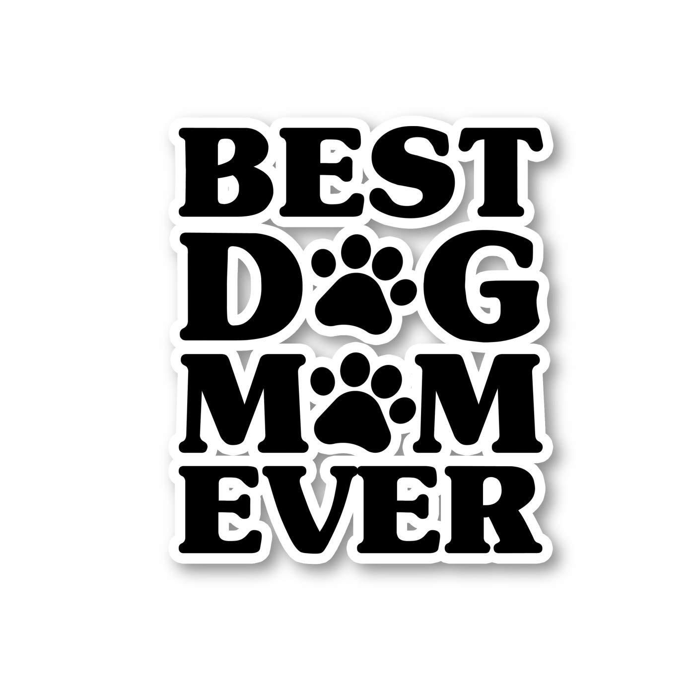 Amazon com best dog mom ever paw print sticker dog stickers laptop stickers 2 5 vinyl decal laptop phone tablet vinyl decal sticker s1128