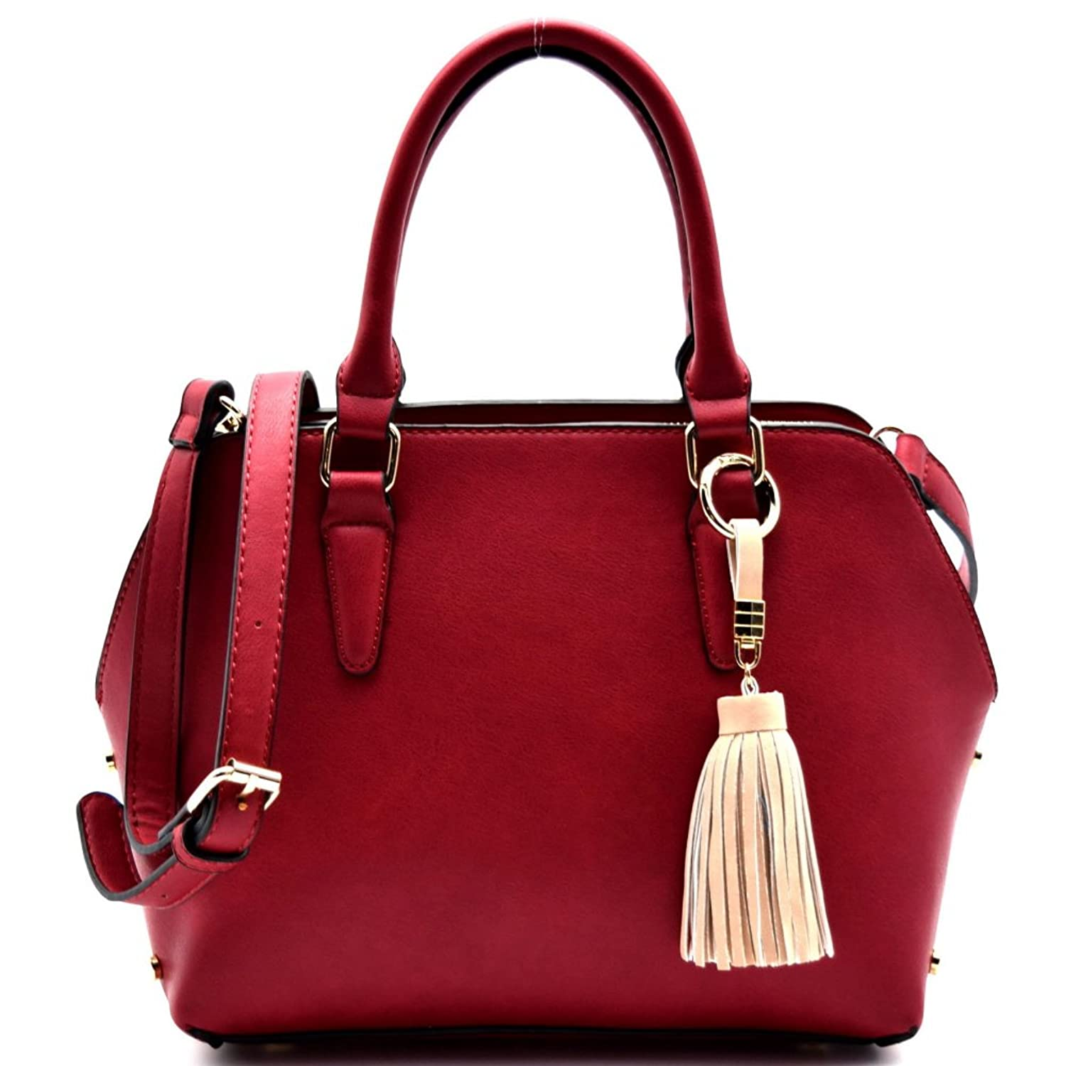 Tassel Accent 3 Compartment Classy Satchel