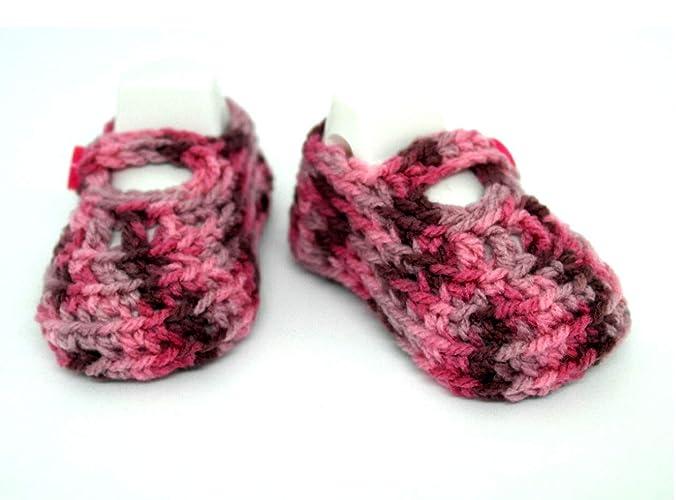 Zapatos de bebé hechos a mano, Botines de bebé de ganchillo, Botines de niña