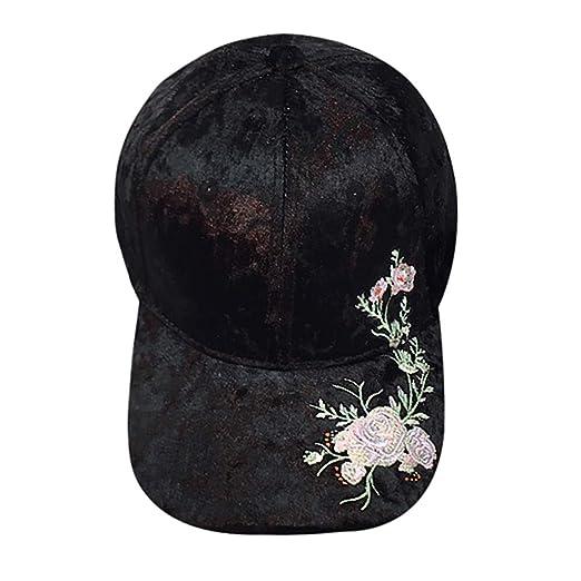 09b4d204 DDKK Hip Hop Baseball Cap Dad Hat-Unisex Applique Floral Snapback 3D  Printed Adjustable Flat