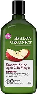 product image for Avalon Organics Shampoo, Smooth Shine Apple Cider Vinegar, 11 Oz (Pack of 6)