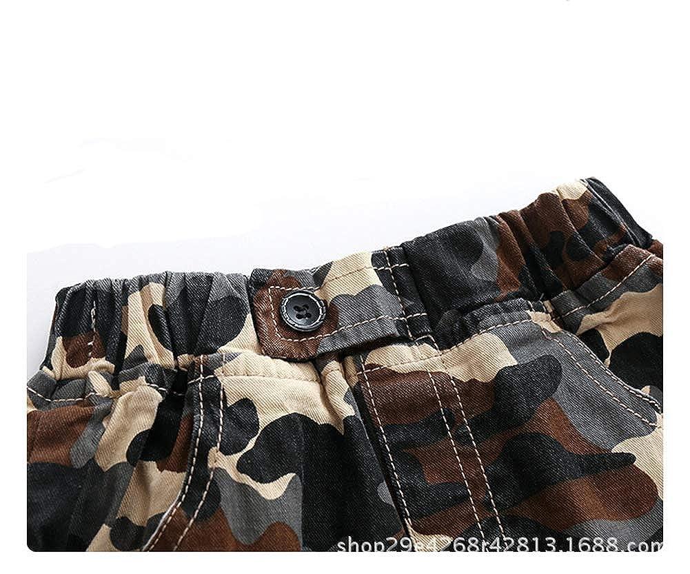 Zernar Little Boys Camouflage Shorts,Kids Fashion Cargo Short