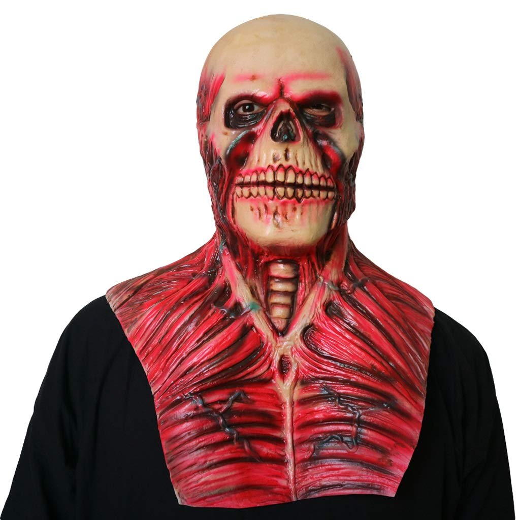 LCMJ WS Halloween Horror Grimace Scary Mask Devil, Prom Party Carnival Props Decoration (Color : Ghost Detective)