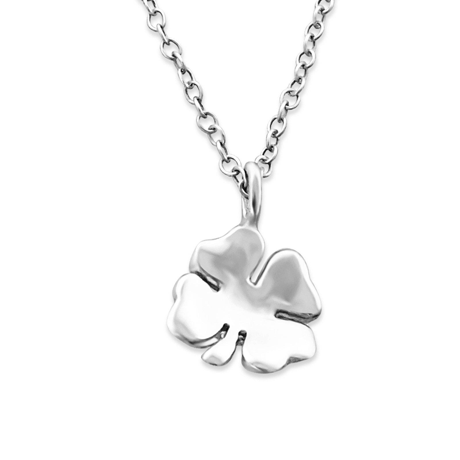 Atik Jewelry Silver Shamrock Necklace