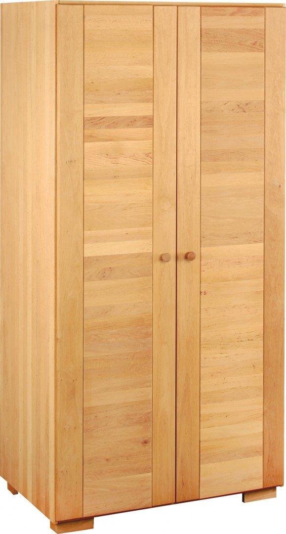 BioKinder 22634 Kai Schrank Kinder-Kleiderschrank 2 türig aus Massivholz Erle 200 x 100 x 62 cm