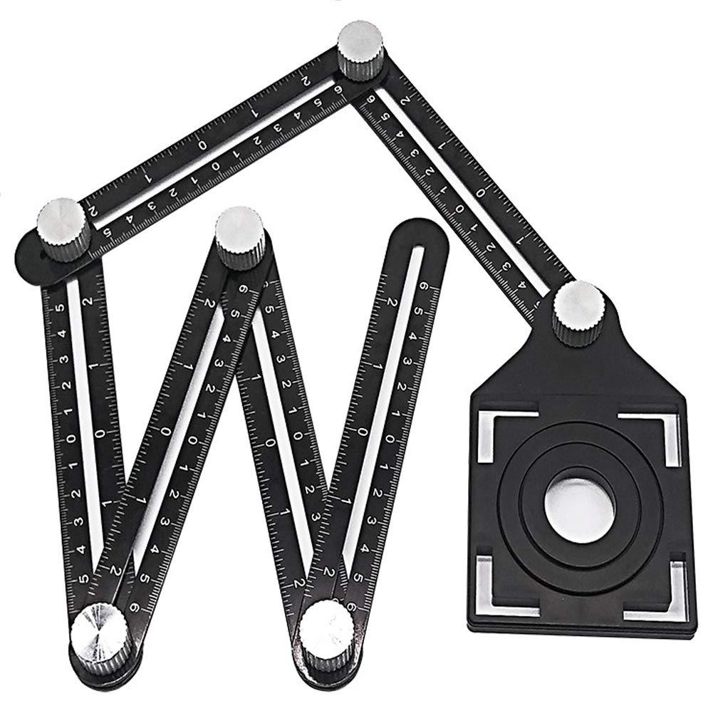 Tempshop Outil de gabarit dangle-gabarit R/ègle de gabarit Multi-Angle Gabarit Mesures Constructeurs Constructeurs Artisan