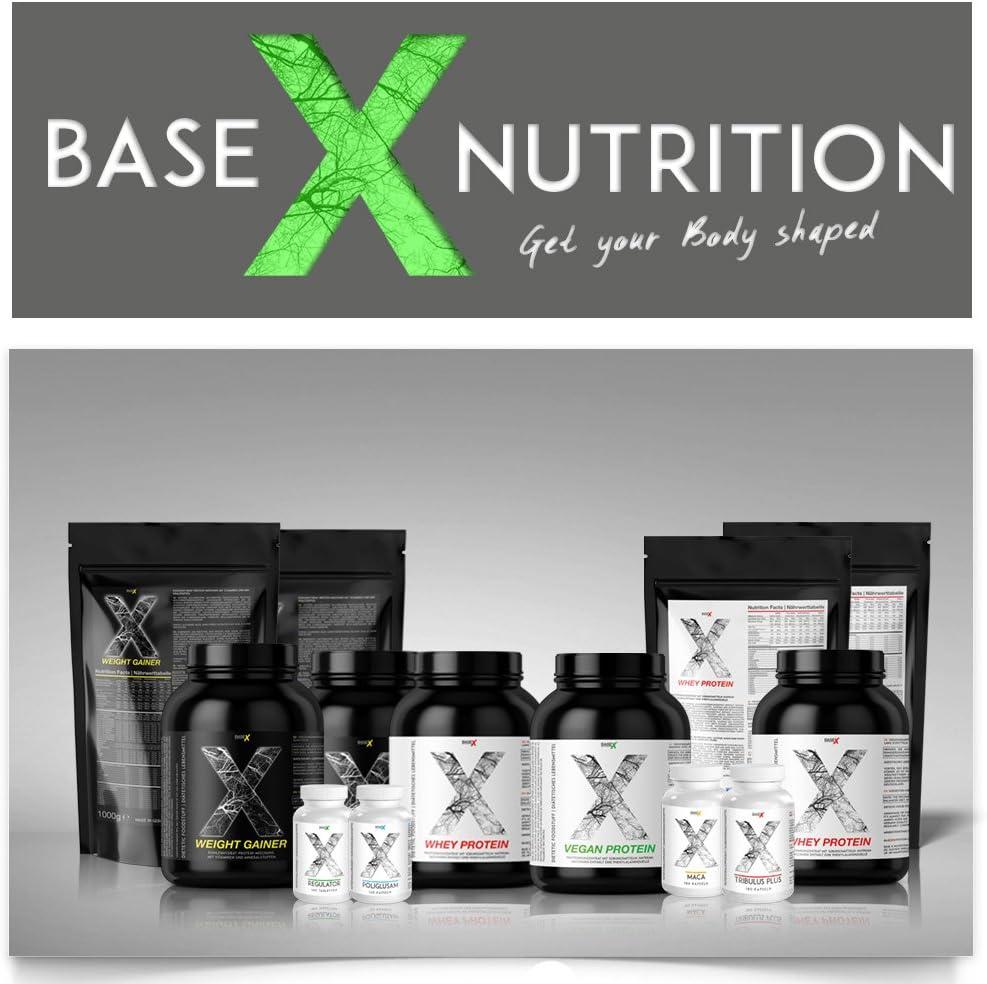 baseXnutrition, VEGAN Protein, proteínas vegetarianas la base vegana para una óptima mantenimiento muscular y la construcción de músculo, 1000g ...