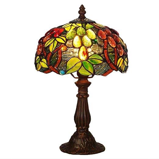 Tiffany estilo lámpara de escritorio 8 pulgadas mano Vidriera ...