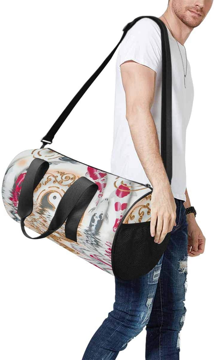 Weekender Bag INTERESTPRINT Koi Family Travel Duffel Bag