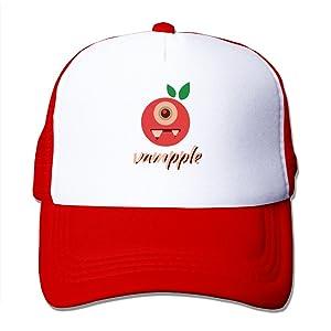 Fashion Funny Vampire Apple Vampple Snapback Baseball Trucker Cap&Hat Red