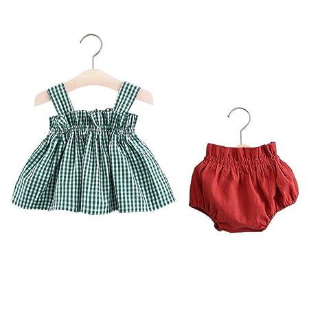 FHYER Ropa de bebé niñas Falda Pantalones de Vestir, algodón de ...
