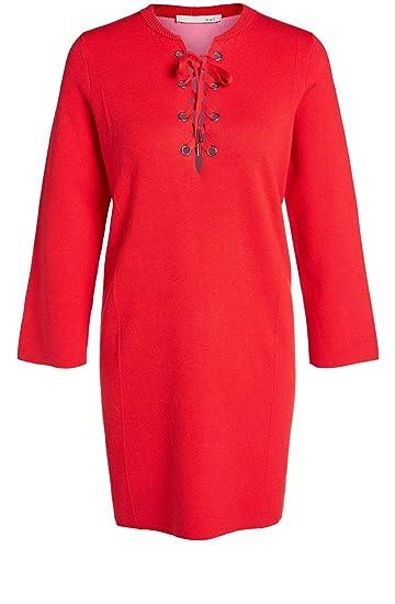 low priced 350cd 24837 Oui Damen Kleid Rot rot: Amazon.de: Bekleidung