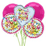 Shopkins Balloon Bouquet 5 pcs - Party Supplies by Anagram