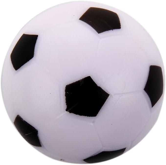 Gaoominy Futbolin Pequeno de Futbol Bola de plastico Duro de Mesa Juguete de ninos Blanco Negro: Amazon.es: Juguetes y juegos
