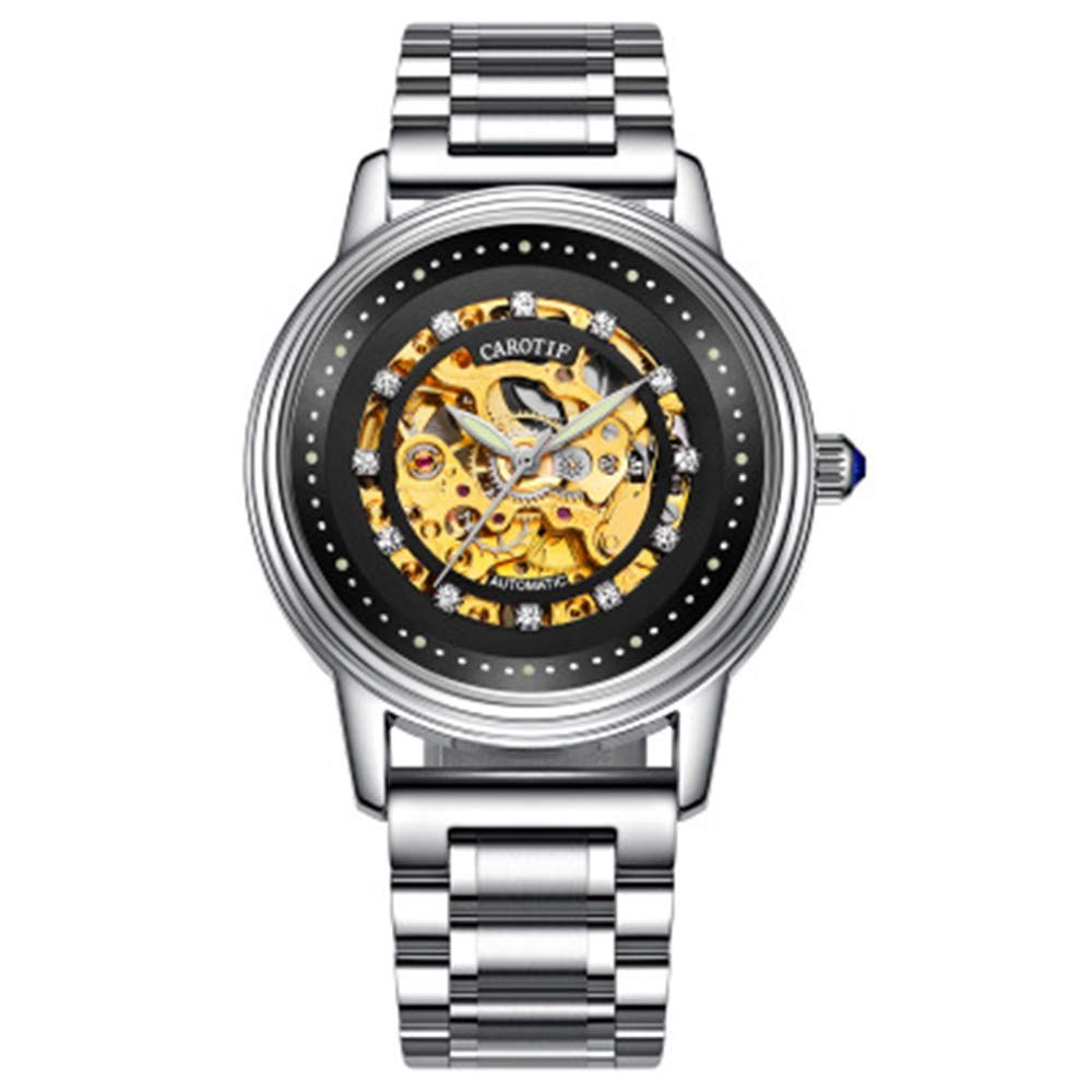 XKIAFV Sportuhr Damen Herren Männer Uhren Automatische Mechanische Uhr Männliche Tourbillon Wasserdichte Skeleton Uhr Männer