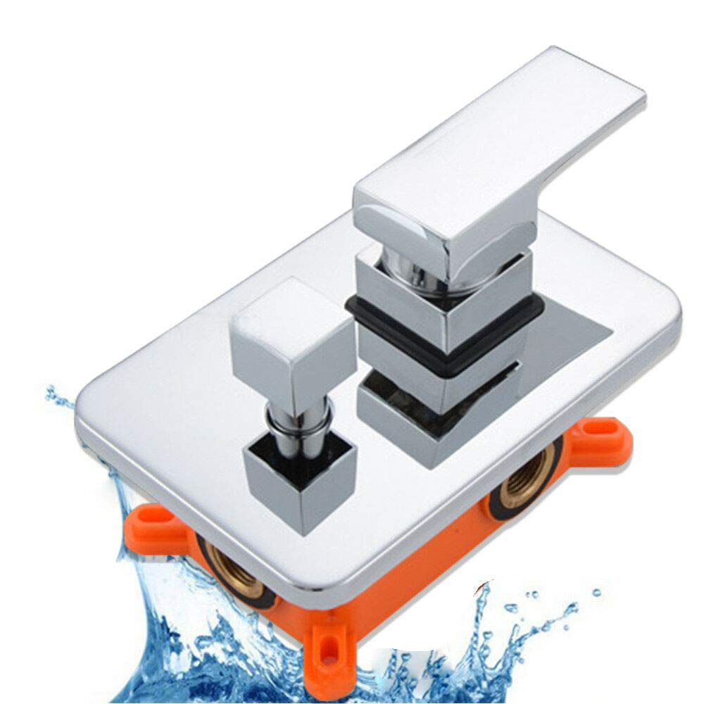 Shower Valve Embedded Wall Mount Shower Mixer Valve 2-way Dual Function Mixing Diverter Shower Faucet Control Valve (US STOCK) by SHZICMY (Image #2)