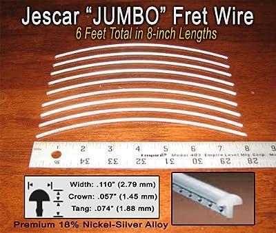 Guitar/Bass Fret Wire - Jescar JUMBO Size Nickel-Silver - Six Feet by Jescar