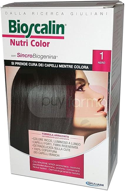 Tinte para el cabello Nutri Color n.° 1,color negro: Amazon ...