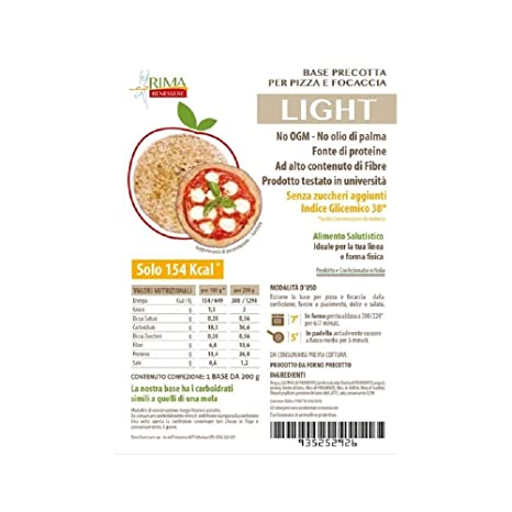 Pizza Pizza Rima Benessere Dietary Base 200 G Or Dietary