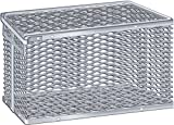 Scientific Labwares Aluminum Tilt Cover Test Tube Storage Basket, 11.5'' X 7.9'' X 7''